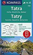 KOMPASS Wanderkarte Tatra, Hohe, Westliche, Belaer, Tatry, Vysoké, Západné, Belianske 4in1 Wanderkarte 1 50000 mit Aktiv Guide und Detailkarten ... 1 50 000 (KOMPASS-Wanderkarten, Band