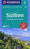 KOMPASS Wanderführer Sizilien und Liparische Inseln Wanderführer mit Extra-Tourenkarte 1 15.000 - 1 55.000, 60 Touren, GPX-Daten zum Download.