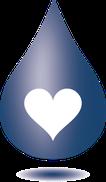 Wassertropfen mit Herz - Logo Thomas Bausch