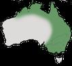 Karte zur Verbreitung des Blauohr-Honigfressers in Australien.
