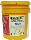Detergente para materiales pétreos.