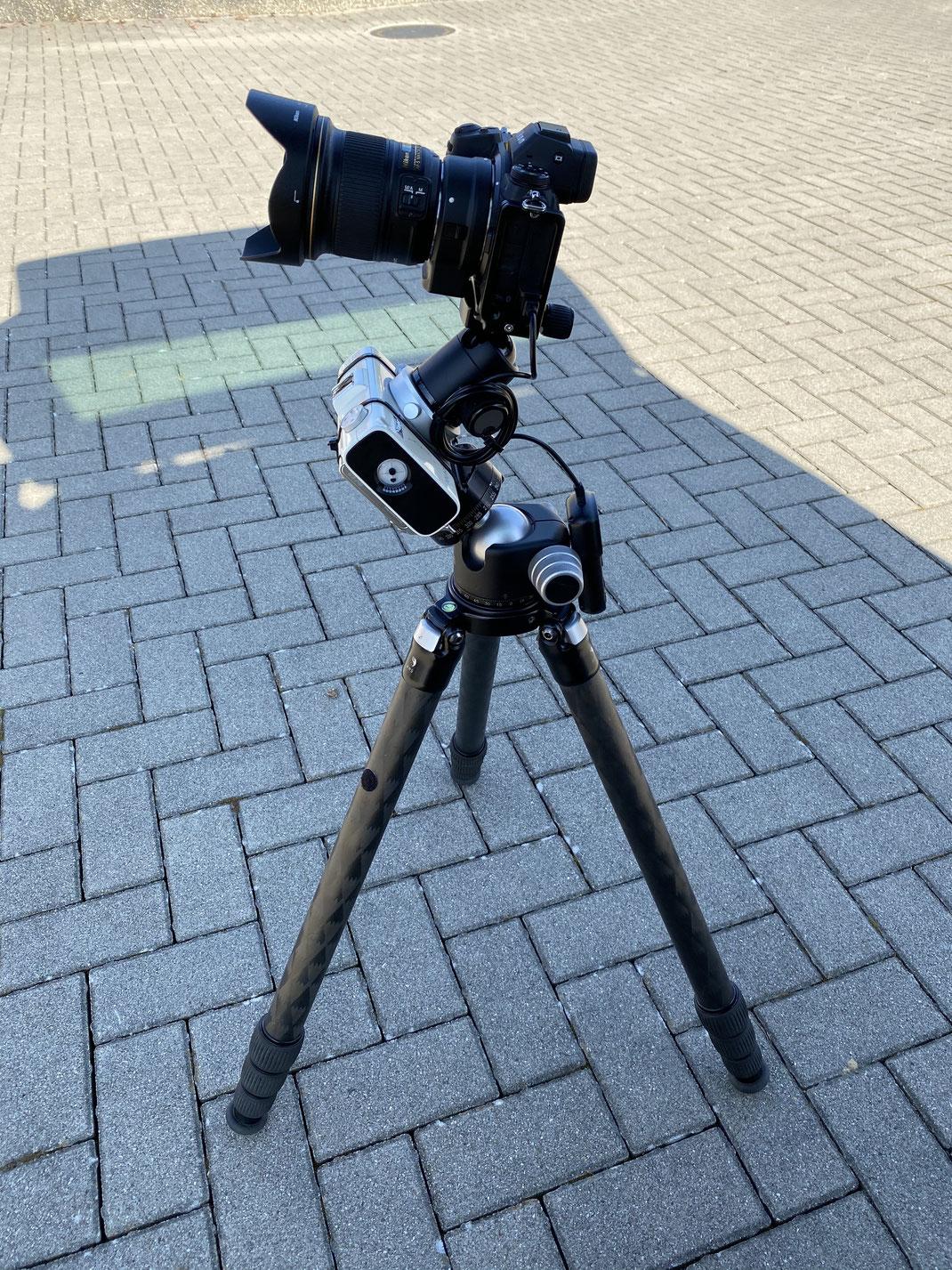 Bewährte Kombination - NikonZ7 + 20mm F/1.8 auf dem Polarie