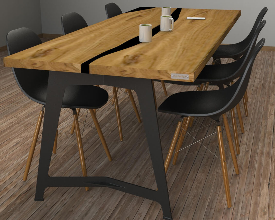 pied de table design sur-mesure style industriel