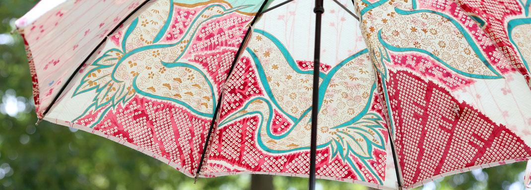 形見の着物や思い出の詰まった布製品で あなただけのオーダーメイド日傘をお作りします