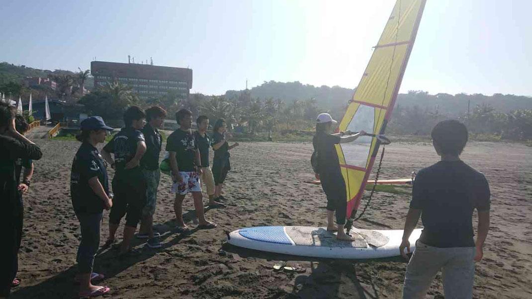 ウィンドサーフィン陸練