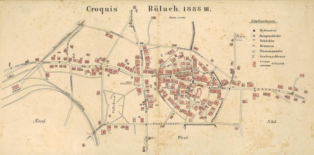 Croquis Bülach 1888