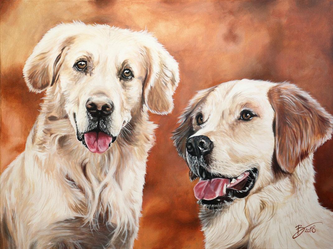 Hund Leinwand Kunst Acryl Tier Gemälde