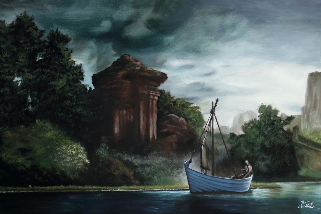 Game of Thrones Acryl Leinwand Wasser Landschaft Kunst