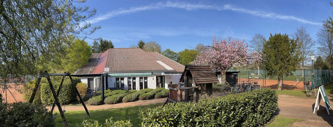Das Clubhaus des Tennisvereins Dransdorf in Bonn
