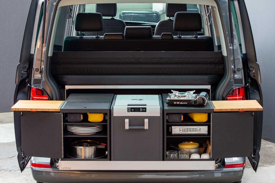 Heckküche für VW Bus T5 T6 T6.1 Module calibox