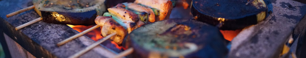 Grillen, Gemüse, Angrillen, BBQ, Zucchini, vegetarisch, Grill, Trends, luag, vegan, Feuer, Glut