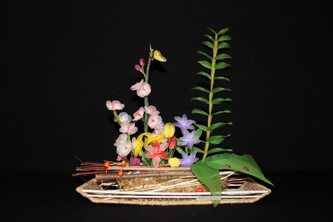 Pervenche,Orchidée,Fleur de Cerisier
