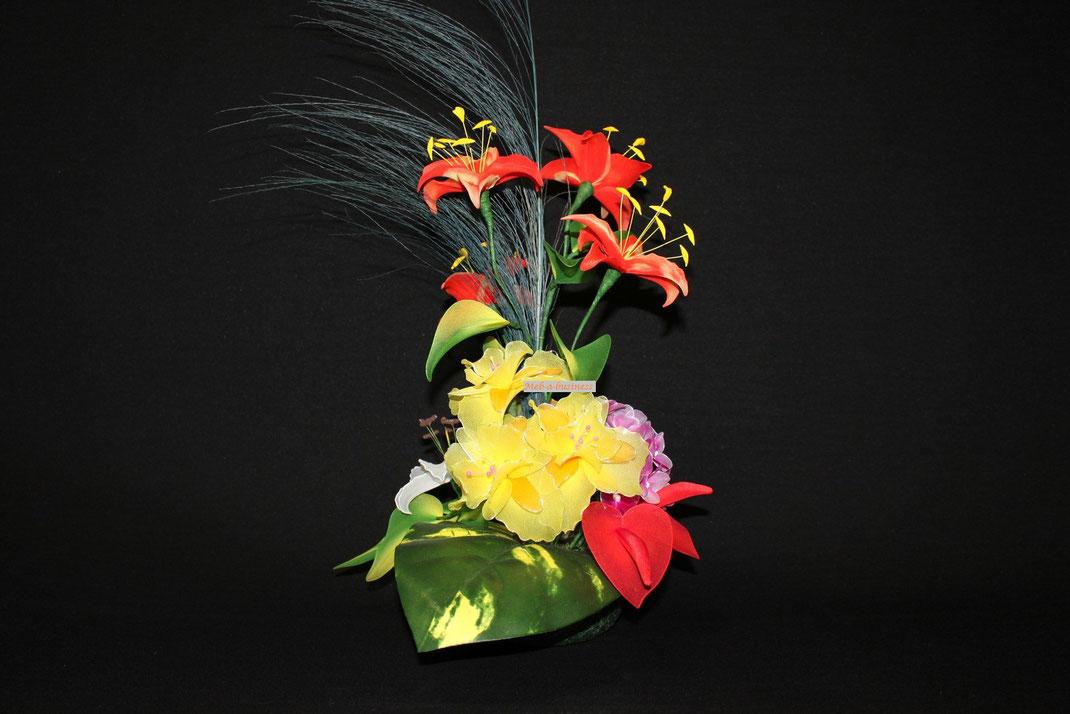 Lys,Iris,Rose,Géranium,Anthurium