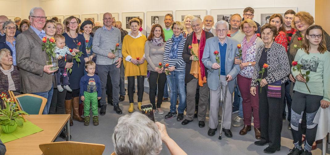 Die Zühlsdorfer Gesichter - Vernissage am 10.3.2019  (Foto: Reinhard Musold)
