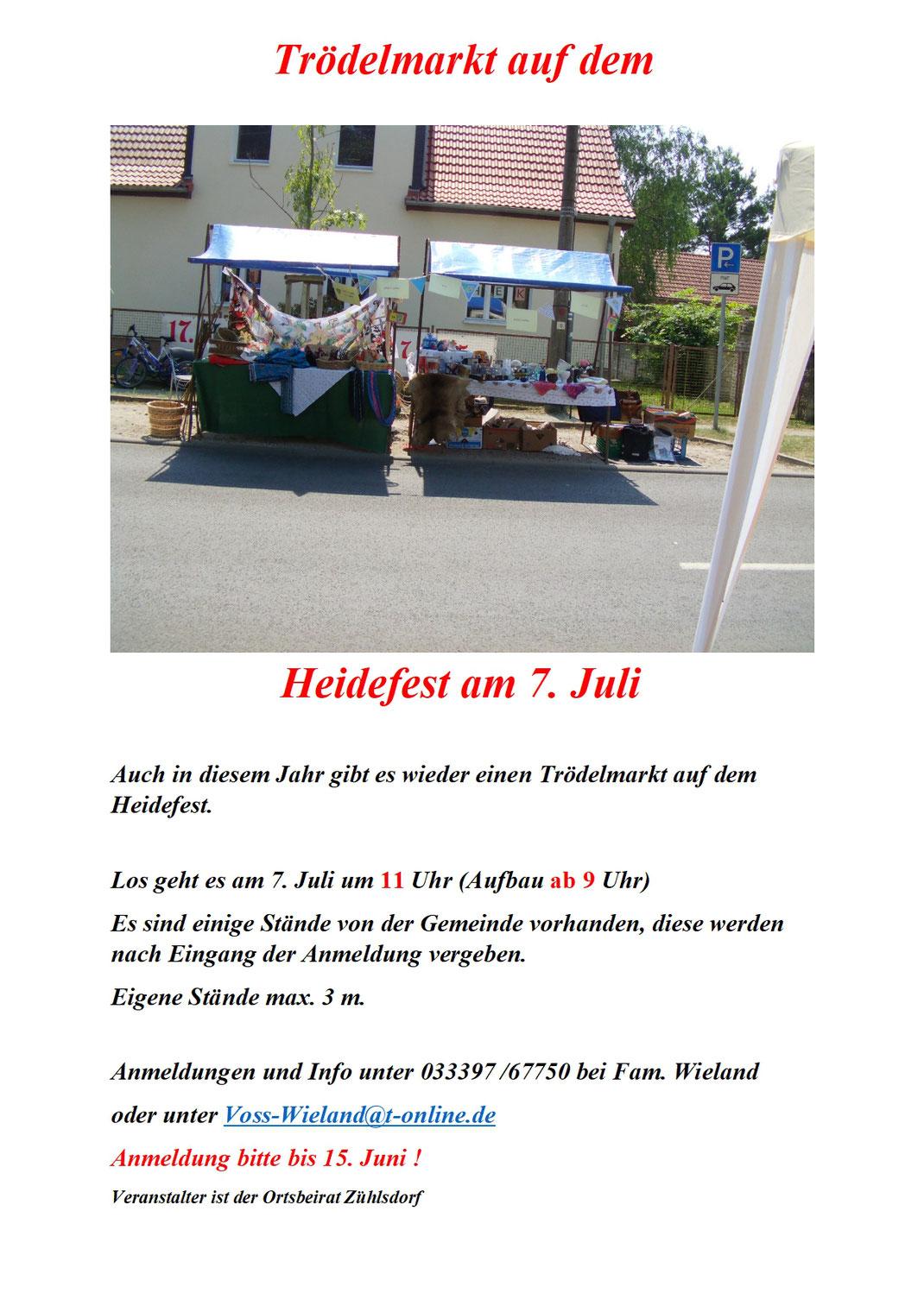 Trödelmarkt zum Heidefest