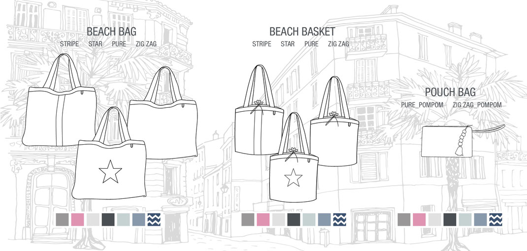 BYRH 2019 - Kollektion: Beachbag, Beach Basket, Pouchbag