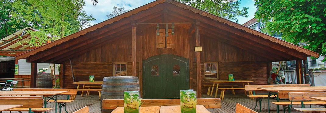 Kirchheimer Hirschgarten - der Biergarten unter Kastanien