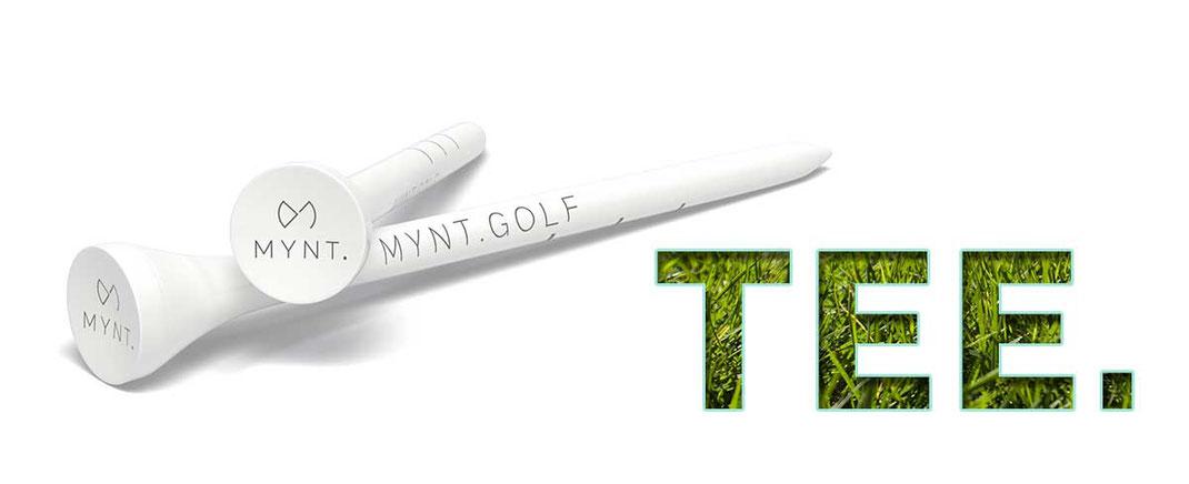 MYNT Premium Golf Tee 54 und 83 mm uebereinander