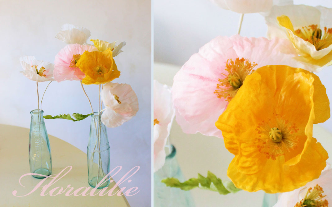 Mohn aus Wafer Paper | Floralilie Sugar Art