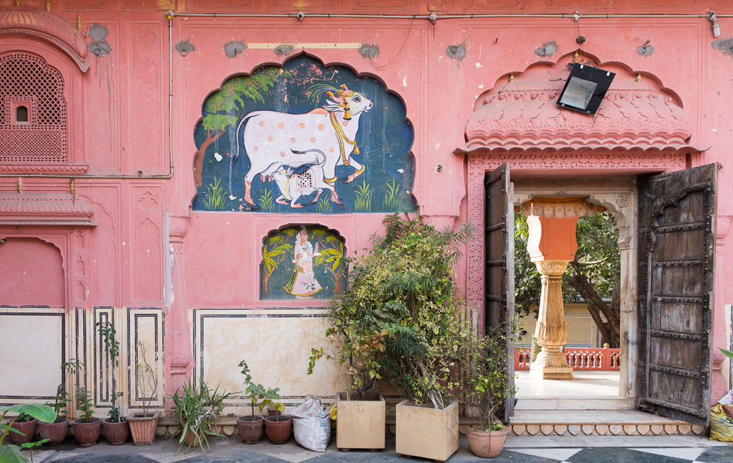 Fresque moghole (Jaipur).
