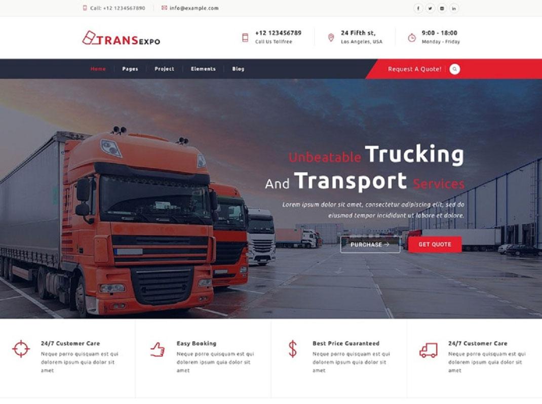 Sitio web para empresas de Fletes y Transportes en México