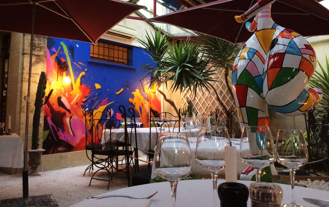graffiti street art wall mural peinture abstract abstrait urbanart architecture nebulae Paris Médoc, Bordeaux, restaurant