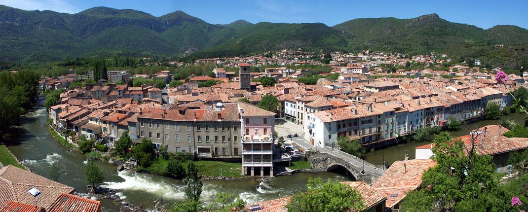 Ville de Quillan - vue du Château