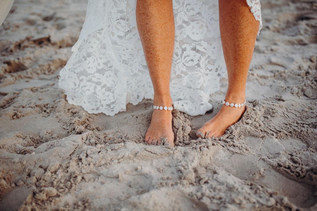 Hochzeitsreportage am Strand von Sankt Peter Ording.