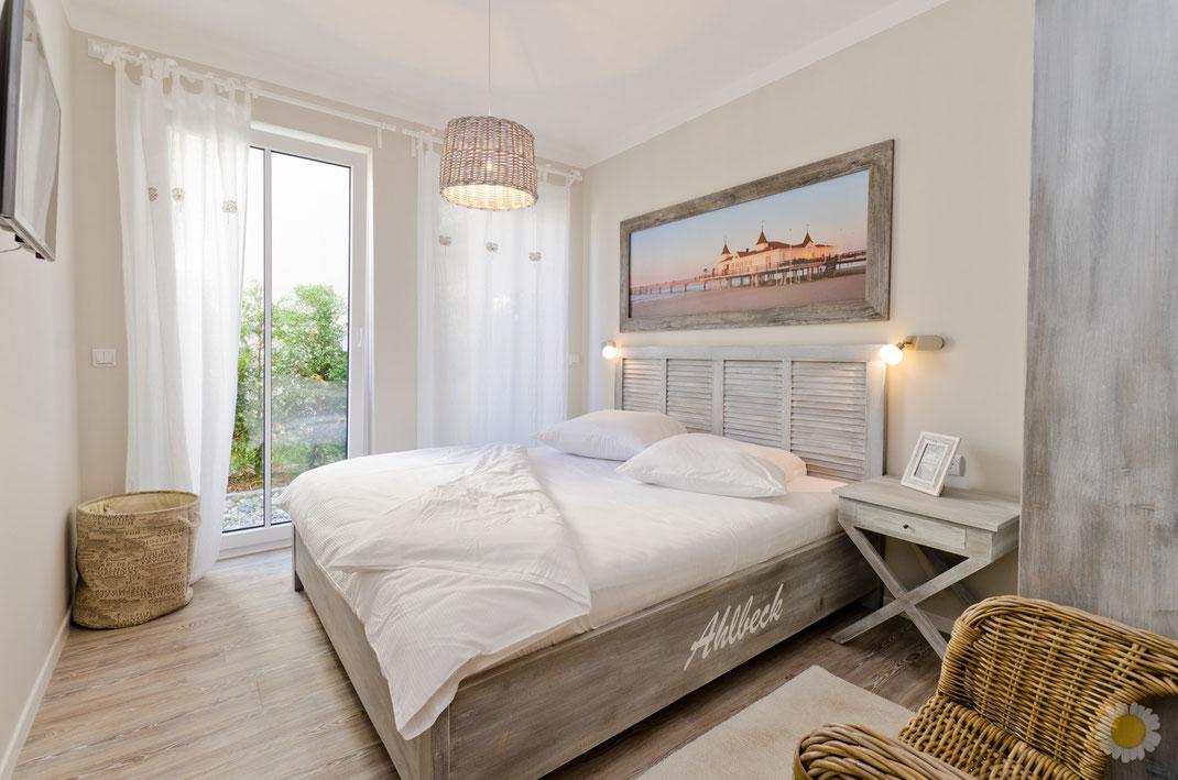Ferienwohnung-Fotoservice.de Ferienwohnung in Ahlbeck Schlafzimmer