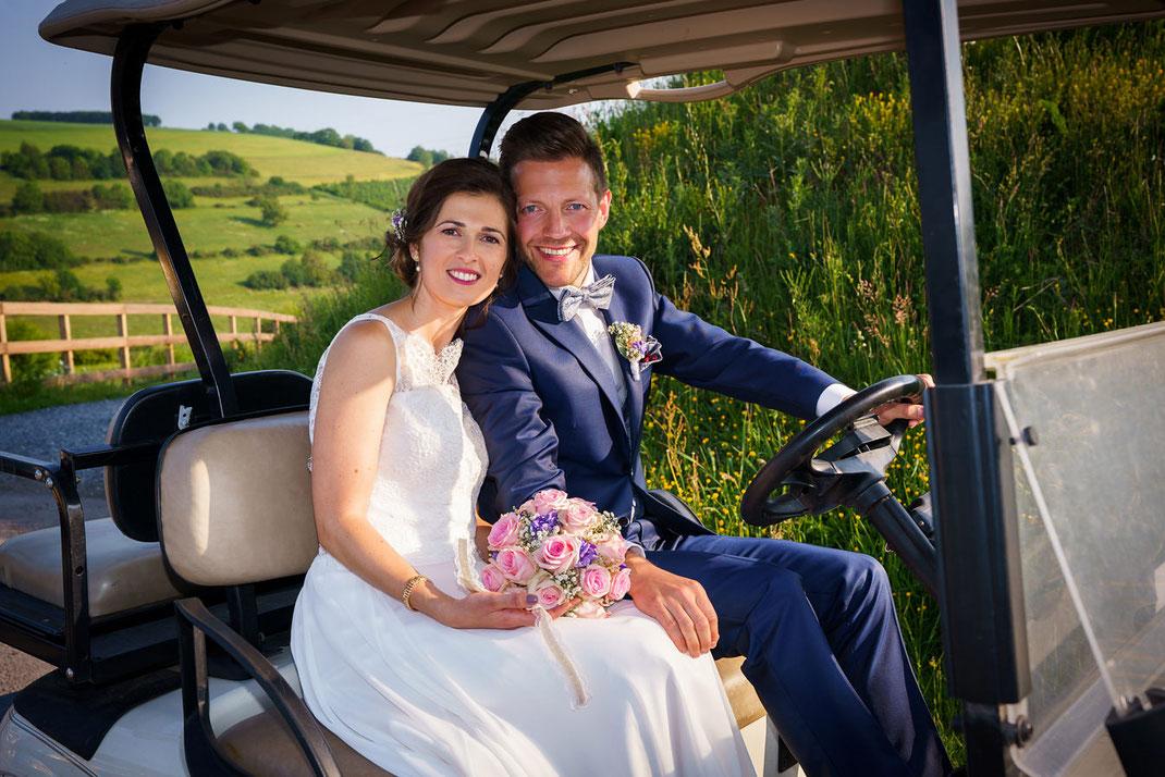 Hochzeitsfotos mit dem Brautpaar in Luxemburg