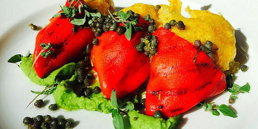 vegan stuffed piquillo peppers brighton