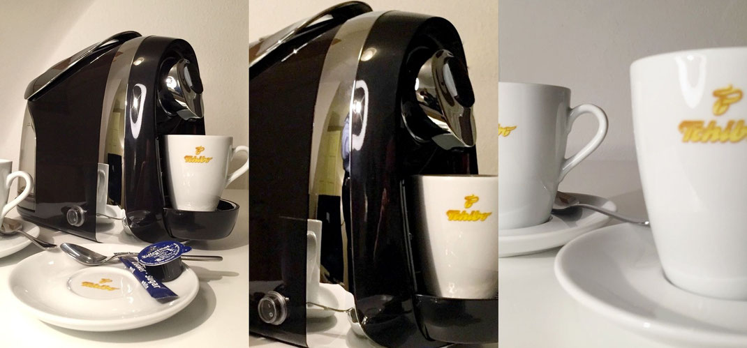 neu kaffeemaschine in jedem apartment apartment hotel. Black Bedroom Furniture Sets. Home Design Ideas