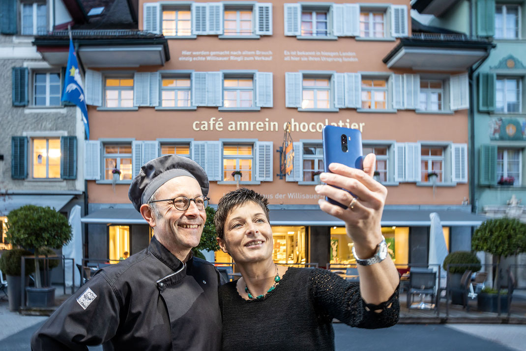 Sie sind zu Recht stolz auf ihr Werk: Michael und Ursula Renggli.