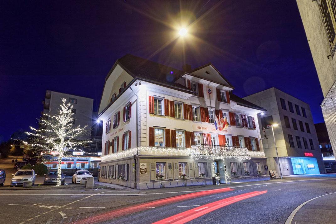 CAS GRUPPE AG: Weihnachtsbeleuchtung Hotel/Restaurant Mohren Willisau/LU