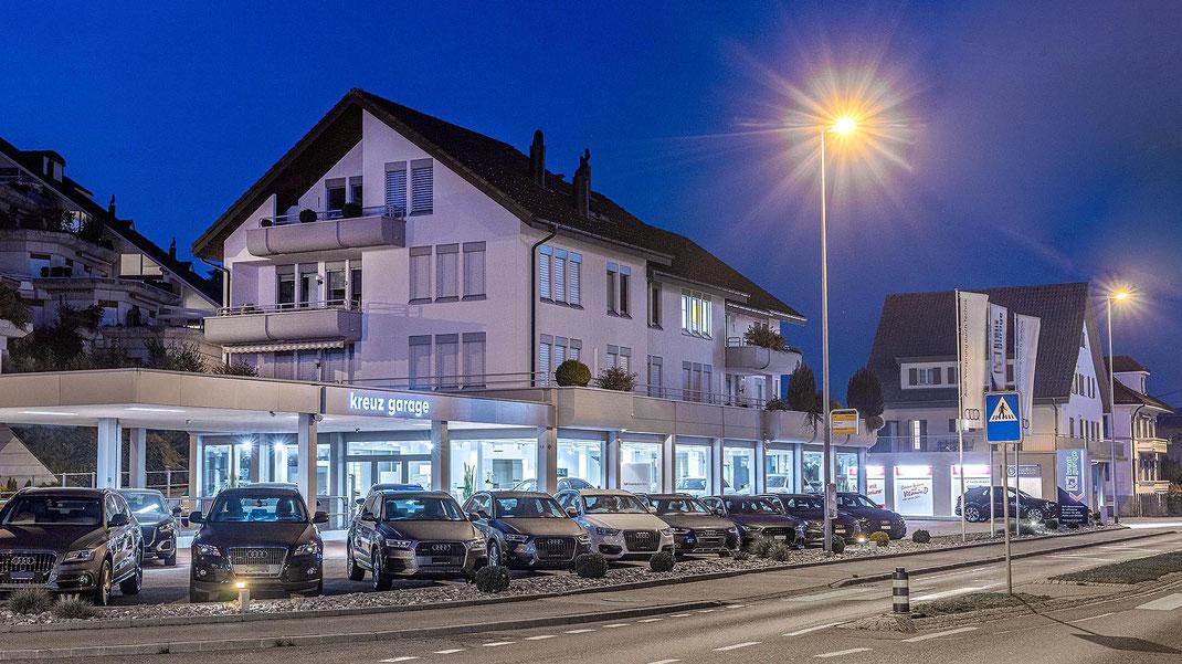 Die AUDI-Vertretung der Kreuz-Garage Willisau AG an der Ettiswilerstrasse.