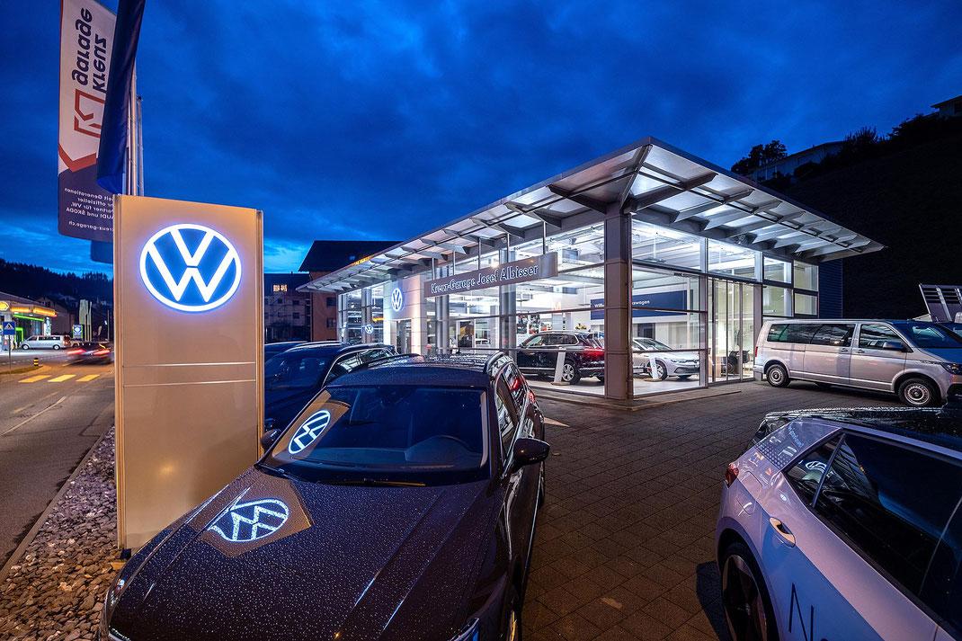 Die VW-Vertretung der Kreuz-Garage Willisau AG an der Ettiswilerstrasse.