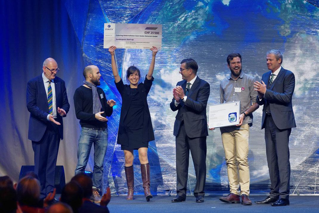 Fotodok Verleihung Zurich Klimapreis 2016 Schweiz und Liechtenstein (Nr. 3) in der Umwelt Arena Spreitenbach.
