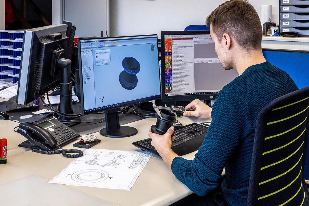 Computer Aided Design (CAD) bei Bühlmann Maschinenbau AG