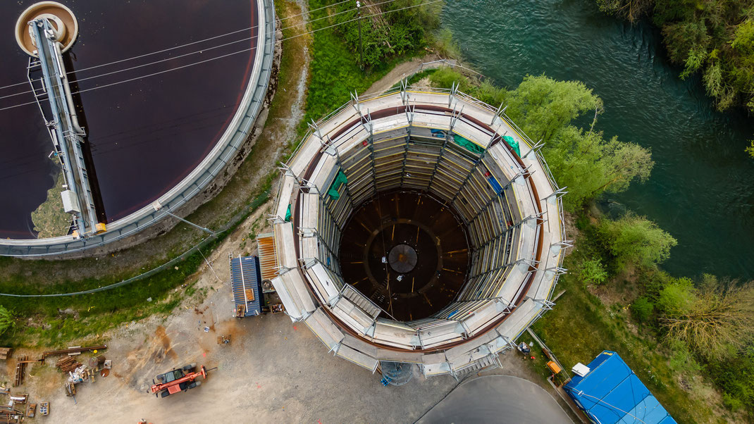 Bau eines neuen, gigantischen Dampfspeichers