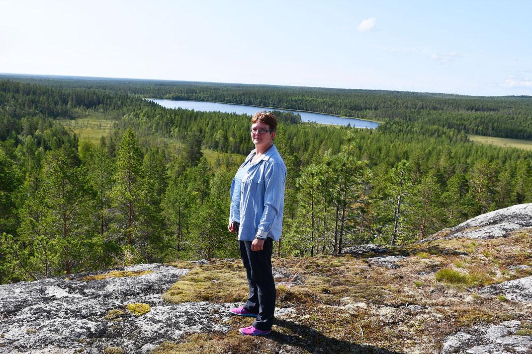 Cornelia Biedermann auf ihrer Finnland-Reise.