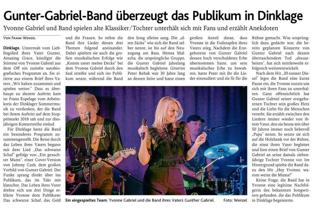 Oldenburgische Volkszeitung vom 26.8.2019