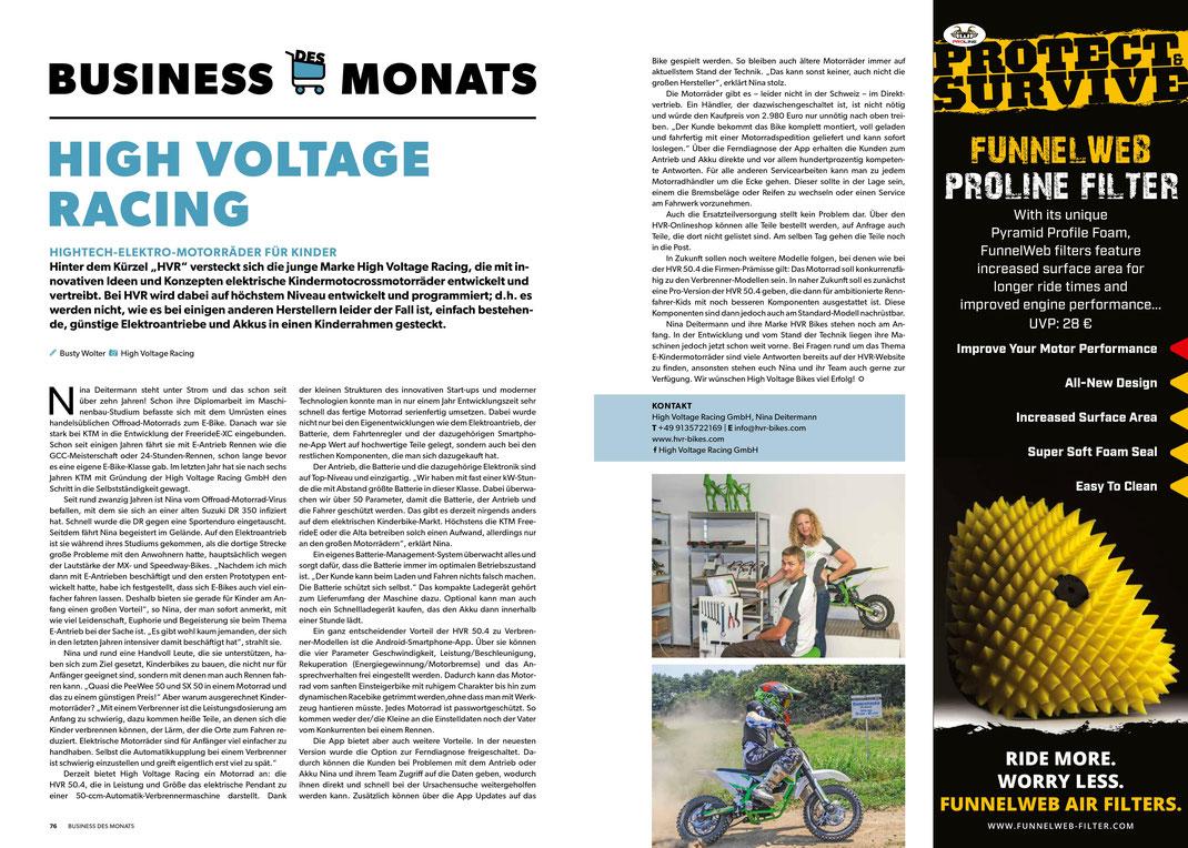 Zeitschrift Dirtbiker Artikel