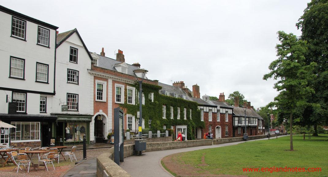 Sehenswürdigkeiten und Reisetipps für Exeter, England: Domfreiheit der Kathedrale von Exeter
