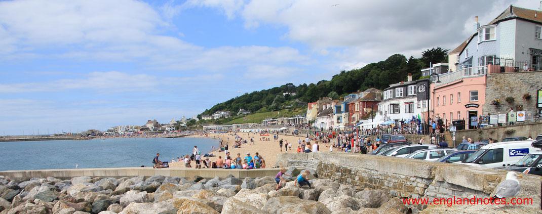 Sehenswürdigkeiten in Lyme Regis, England: Der Strand und The Parade