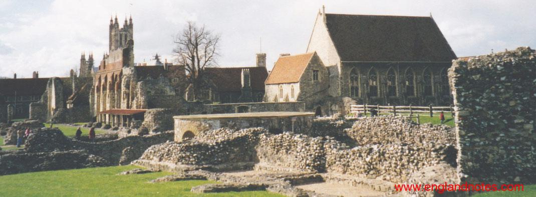 Sehenswürdigkeiten und Reisetipps Canterbury, England: Die Ruinen der Abtei St. Augustines Abbey