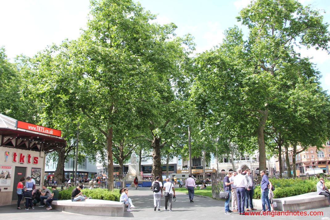 Die besten Tipps rund um Theater, Musical und klassische Konzerte in London: Verkaufsstelle für die Theatertickets auf dem Leicester Square