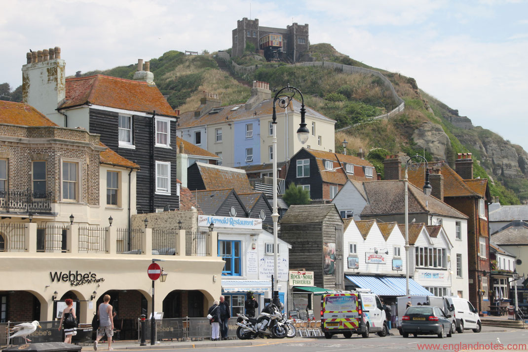 Sehenswürdigkeiten und Reisetipps Hastings, England: West Hill Lift in Hastings