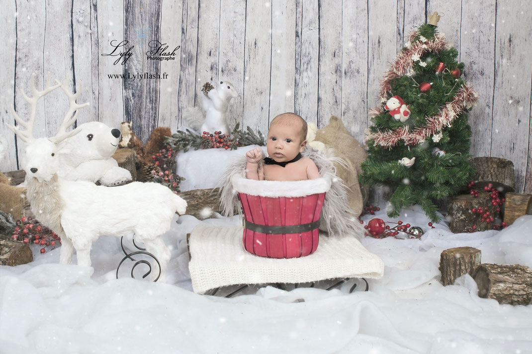 photo de Noël bébé var Toulon photographe professionnelle
