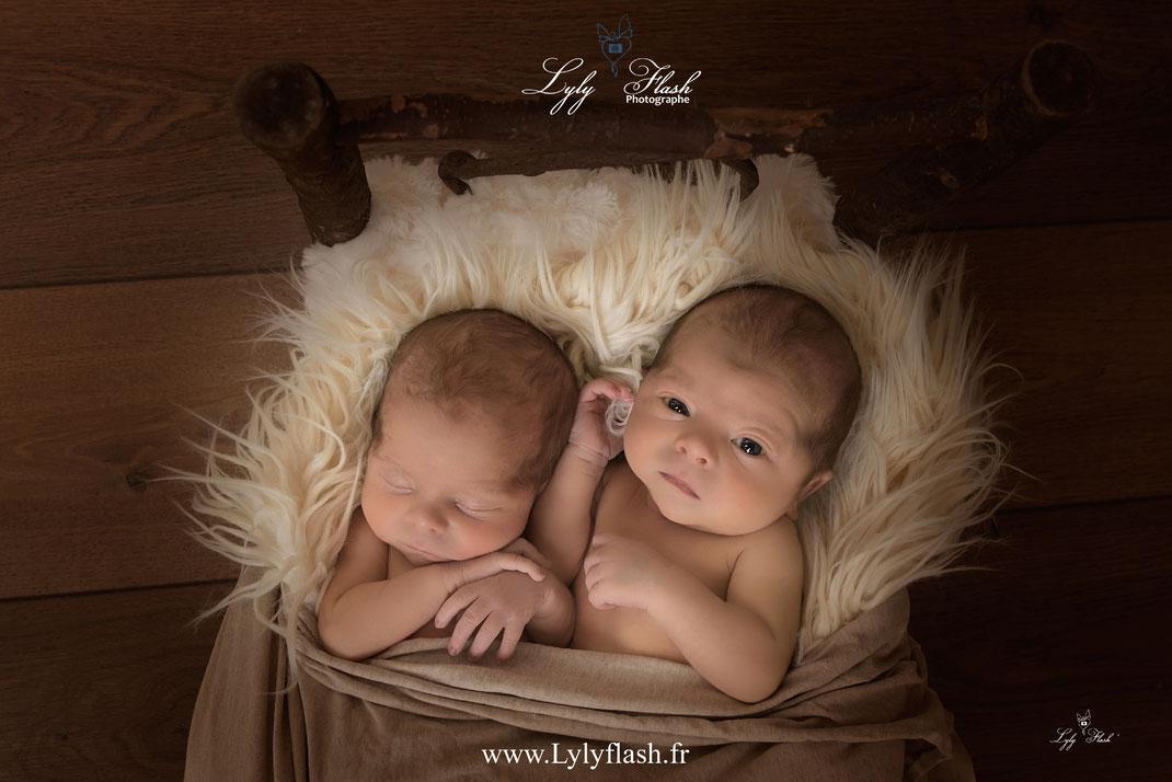 photo naissance jumeaux bébé nouveau-né sanary