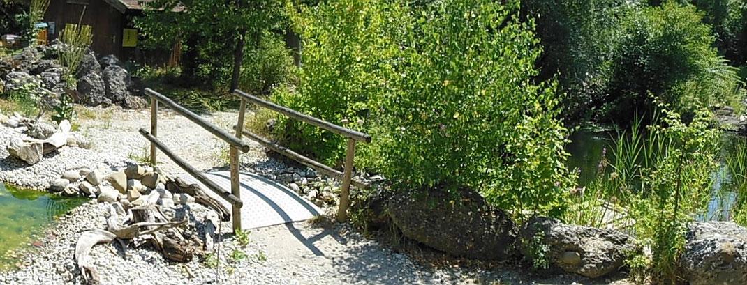 Der LBV Umweltgarten in Wiesmühl an der Alz, Gemeinde Engelsberg im Landkreis Traunstein